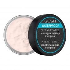 Пудра д/лица водостойкая фиксирующая - 01 Transparent - Gosh Waterproof Setting Powder